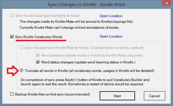 truncate kindle words